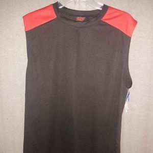 New Zone Pro Muscle Shirt Large Athletic Black Red